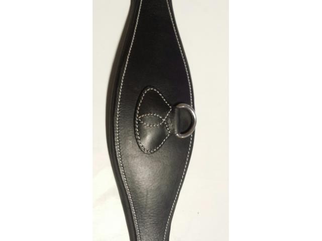 Sangle en cuir 130 cm noir