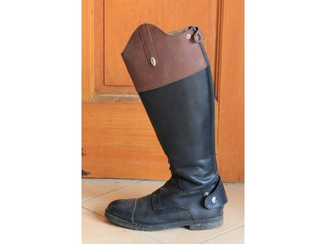 bottes equitation cuir italienne. Black Bedroom Furniture Sets. Home Design Ideas