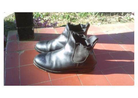 Boots en cuir véritable 38