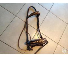 Bridons cuir marron