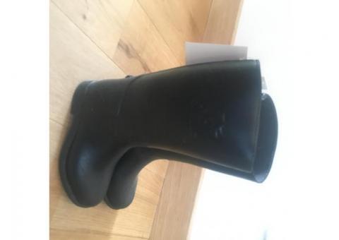 bottes enfant noires fouganza taille 28