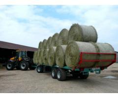 Vends 250 Tonnes de foin multi-espèces Biologique de séchage en grange avec DZU
