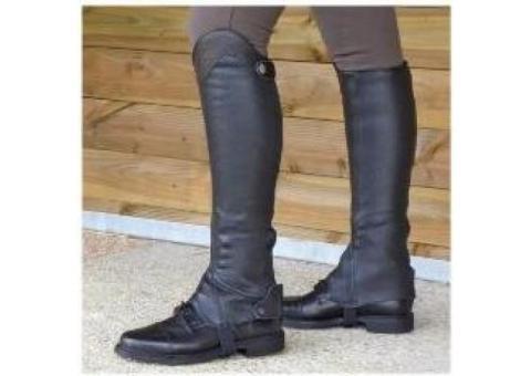 Mini Chaps Equitation Marron et Noir Neuves